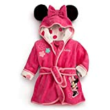 Little Girls Bathrobe with Hood Pajamas Robe Minnie Mouse Cartoon Coats Clothes Pink 3t