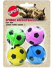 Ethical Sponge Soccer Balls Cat Toy, 4-Pack