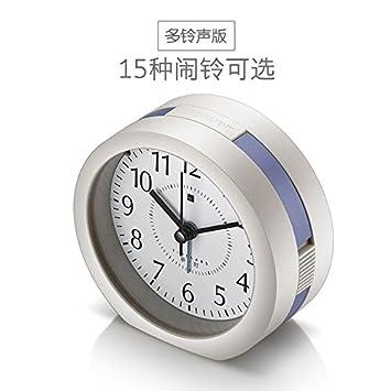 HUANGYAHUI Despertador Alarma De Música Pereza Estudiantes Jefe Silencio Digital Relojes Preciosa Luz De Noche Los Niños Pequeños Del Reloj Base, ...