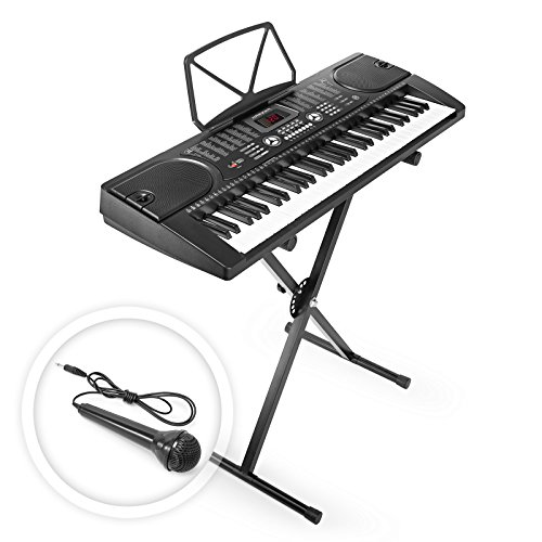 hamzer-61-key-electronic-piano-electric-organ-music-keyboard-with-stand-black
