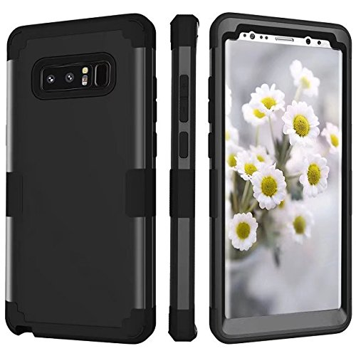 - Galaxy Note 8 Case, AOKER [New] [Perfect] 3 in 1 Shockproof Hybrid Heavy Duty High Impact Hard Plastic +Soft Silicon Rubber Armor Defender Case Cover for Samsung Galaxy Note 8 (Black)