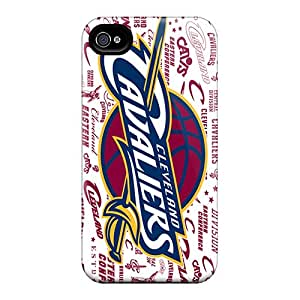 Apple Iphone 4/4s Xsu28368wbPI Unique Design HD Cleveland Cavaliers Image Shock Absorbent Hard Phone Case -WandaDicks