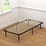 Handy Living Wood Slat Bed Frame Twin-XL