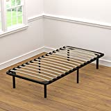 Handy Living Platform Bed Frame - Wooden Slat Mattress Foundation/Box Spring Replacement, Twin-XL