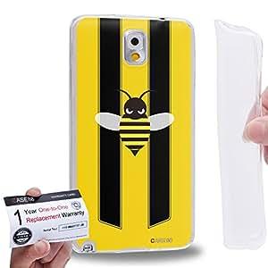 Case88 [Samsung Galaxy Note 3] Gel TPU Carcasa/Funda & Tarjeta de garantía - Art Fashion Little Bumblebee A Art2171