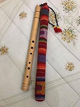 Quena Quenacho indio boliviano de do de Bamboo flauta: Amazon.es: Instrumentos musicales