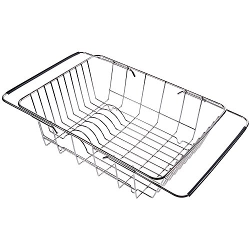Lictin Over the Sink Dish Drying Dish Drainer Rack, Stainles
