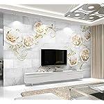 LIWALLPAPER-Carta-Da-Parati-3D-Fotomurali-Oro-Fiore-Modello-Grigio-Camera-da-Letto-Decorazione-da-Muro-XXL-Poster-Design-Carta-per-pareti-200cmx140cm