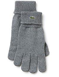 Lacoste Men's Croc Gloves, Grey