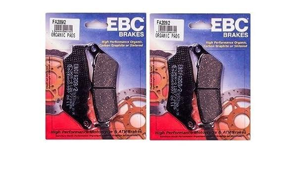 FA407 for Both Calipers 1994-2001 BMW R1100RT 2000 BMW R1100RT SE EBC Kevlar Organic Front Brake Pads 2 Sets