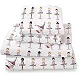 Twin Ballerina Print Sheet Set for Kids Bedding- Double Brushed Ultra Microfiber Luxury Bedding Set By Where the Polka Dots Roam