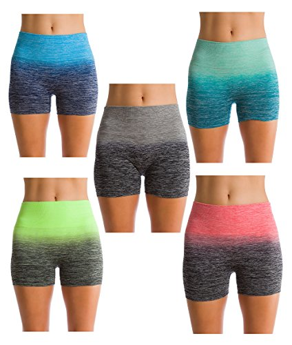 Homma Women's Compression Ombre Yoga Shorts Casual Shorts Slim Fit – DiZiSports Store