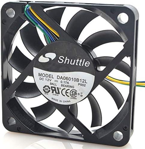 Shuttle 6010 6 cm da 06010 b 12 l 12v 0.17a4 line FOR PWM speed control//ultra thin//fan