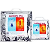 Hot-Cold Insulated Thermal Food Storage & Carry Bags - X-Large or Medium Bag size: X-Large 19 x 19