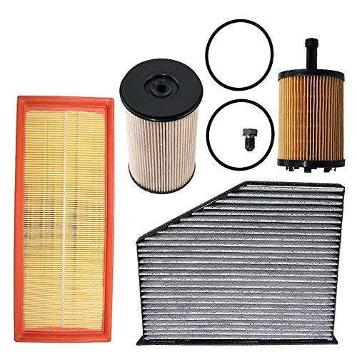 Atec Set B 1 X filtro de aire 1 x Interior filtro de polen filtro) con carbón activo 1 x Filtro de aceite 1 x Filtro de combustible 1 x Tornillo de ...