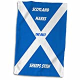 3dRose Florene World Food Flags - Scottish Chefs - 12x18 Hand Towel (twl_51498_1)