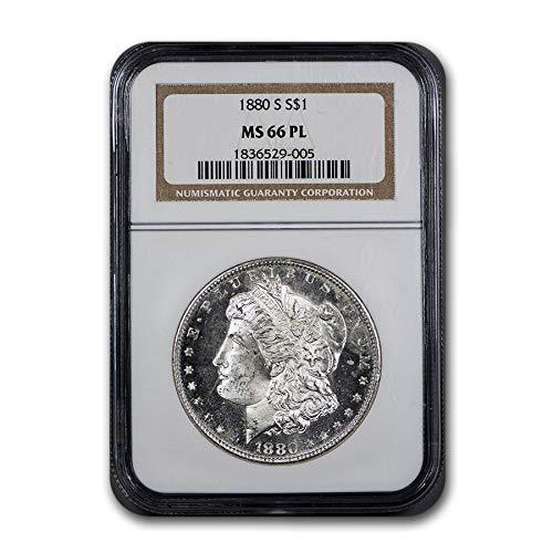 1880 S Morgan Dollar MS-66 PL NGC $1 MS-66 NGC