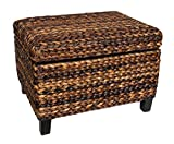 BirdRock Home Woven Seagrass Storage Ottoman | With Safety Hinges Review