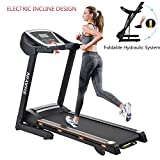 Shayin Treadmills Folding Electric Treadmill Auto Power Incline Running Exercise Machine for Home Gym Exercise Fitness Fold Up