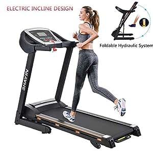 3102301c049 Amazon.com   Shayin Folding Electric Treadmill Running Machine for ...