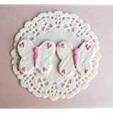 Butterfly Sugar Cookies Set of 2 with White Doily for 14 inch and 18 Inch dolls American Girl, Journey Girls, Our Generation, Madame Alexander, Wellie Wishers, Hearts for Hearts, Glitter Girls Dolls