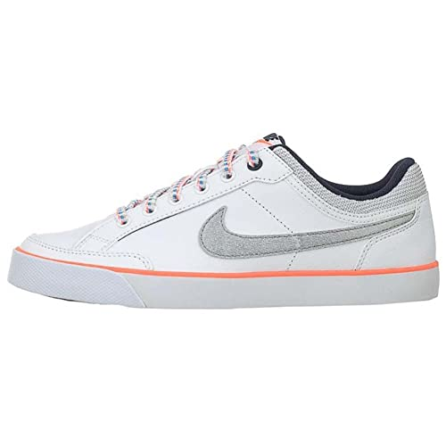 eb2001f0b68 Nike Girls  Capri 3 LTR (GS) Tennis Shoes-White Metallic Silver