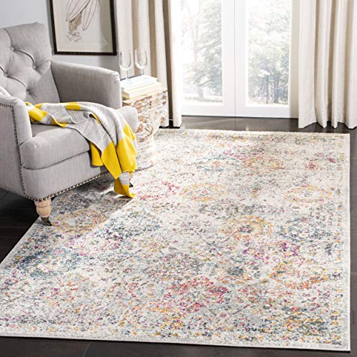 Safavieh MAD611F-9 Rug, 9' x 12', Grey/Gold