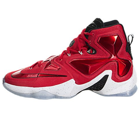 Nike Men's  Lebron XIII Unvrsty Red/White/Blk/Lsr Orng Ba...