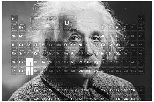 JP London Solvent Free Poster Art Print SPAP2546 Ready to Frame Einstein Periodic Table Science Nerd At 11