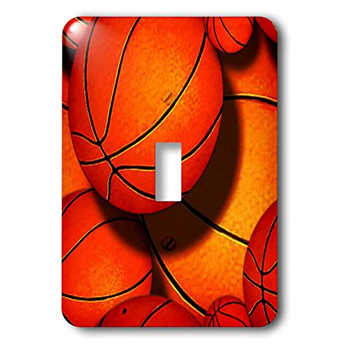 3dRose LLC lsp_63047_1 Basketball Pattern Single Toggle (Basketball Switchplate)