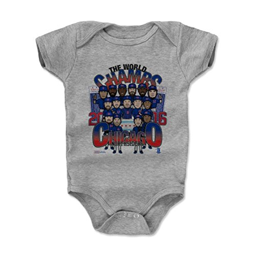 500 LEVEL Chicago Baby Onesie 3-6 Months Heather Gray - Chicago Baseball Infant Bodysuit - Chicago World Champs BR (Shirt Cubs Gray Chicago)