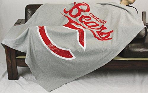 The Northwest Company Chicago Bears NFL Sweatshirt Throw Blanket, Grey (Nfl Chicago Bears Sweatshirt)