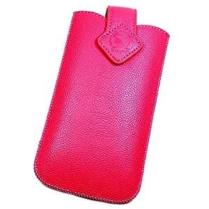 Funda de protección de piel sintética para SAMSUNG GALAXY S4, color rosa talla XXXL ON7