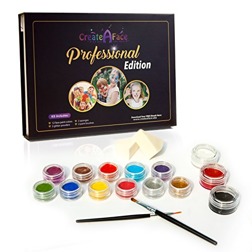 Professional Face Painting Glitters Triangle
