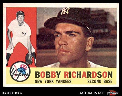 1960 Topps # 405 Bobby Richardson New York Yankees (Baseball Card) Dean's Cards 5 - EX Yankees (Bobby Baseball Richardson)