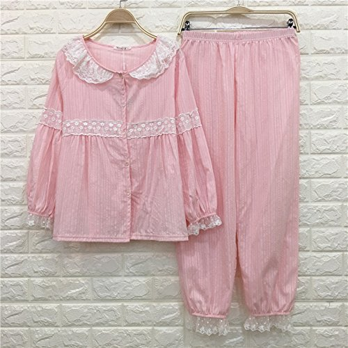 Primavera Lunghe Carino Madre A Maniche Nlj Dolce E Pigiama Casa Donne Incinte Estate Pink KF Cotone Donna 6IqPAwC