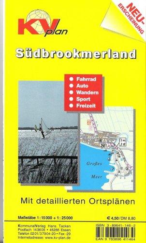 Südbrookmerland: 1:15000. Gemeindeplan mit Freizeitkarte 1:25000. Mit Rad- und Wanderwegen