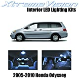 XtremeVision Honda Odyssey 2005-2010 (11 Pieces) Cool White Premium Interior LED Kit Package + Installation Tool