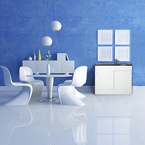 baumarkt direkt Spülenschrank mit 2 Türen, B/T/H: 100/50/85 cm weiß