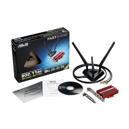 Asus PCE-AC66 PCIe x1 802.11a/b/g/n/ac Wi-Fi Adapter