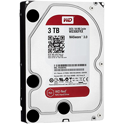 WD Red 3TB NAS Hard Disk Drive - 5400 RPM Class SATA 6 Gb/s 64MB Cache 3.5 Inch - WD30EFRX (Certified Refurbished) by Western Digital