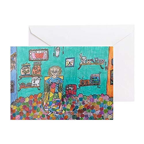 CafePress A Knitter's Dream Greeting Card, Note Card, Birthday Card, Blank Inside Matte