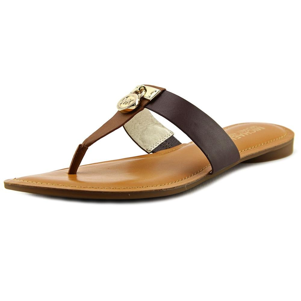 MICHAEL Michael Kors Women's Hamilton Flat Walnut/Java Vachetta Sandal 6 M by MICHAEL Michael Kors
