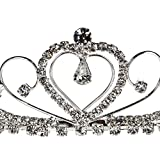 Bridal Wedding Tiara Crown With Crystal Heart 42205
