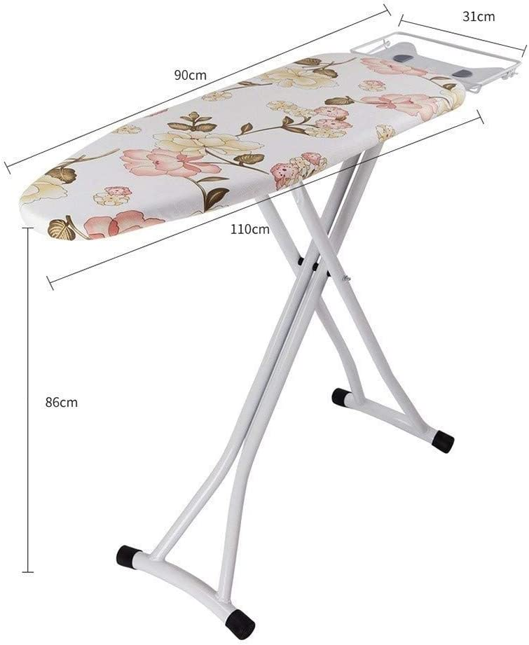 Ironing Boards,Workstation Sturdy Thicken Steam Iron Rest, Multicolor Cloth Cover Selection(Color : #2, Size : 110 * 31 * 86CM) #1