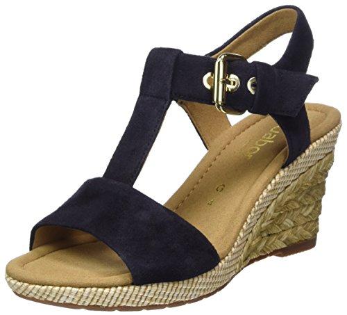 Gabor Comfort Sport, Sandali con Cinturino alla Caviglia Donna Blu (Pazifik Bast)