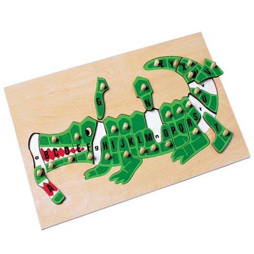 - Doron Wooden Alphabet Alligator Puzzle for Kids