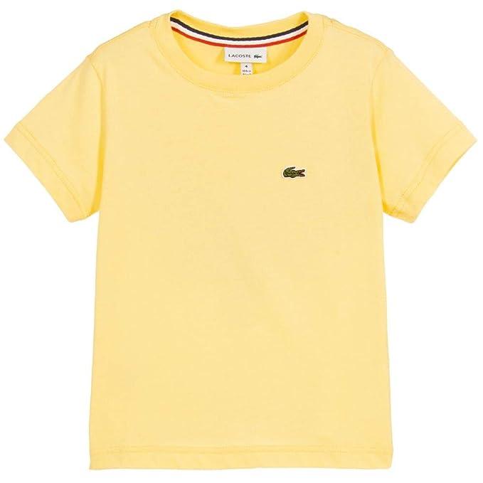 0020da21dfb Lacoste - Camiseta de Manga Corta - para niño  Amazon.es  Ropa y accesorios