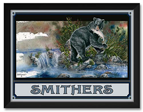 (Blackie Bear Smithers British Columbia Canada Framed Art Print by Dave Bartholet. Print Size: 18