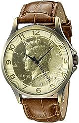 August Steiner Men's CN010SSBR Analog Display Japanese Quartz Brown Watch
